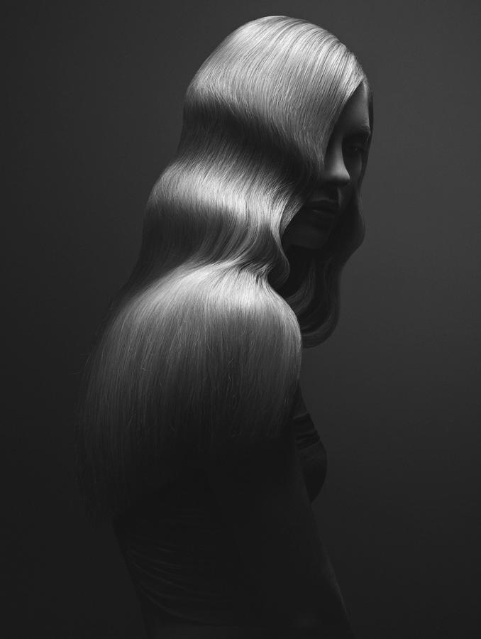 Wavy, © Michal Baran, Ireland, Fashion/Beauty Photographer of the Year 2017, Monochrome Photography Awards