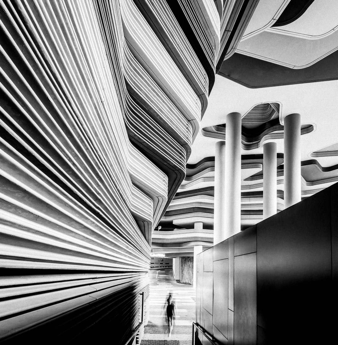 Modern Architecture, Singapore, © Mike Hollman, 1st Place - Black & White Architectural Photo of the Year 2018, MonoVisions Photography Awards