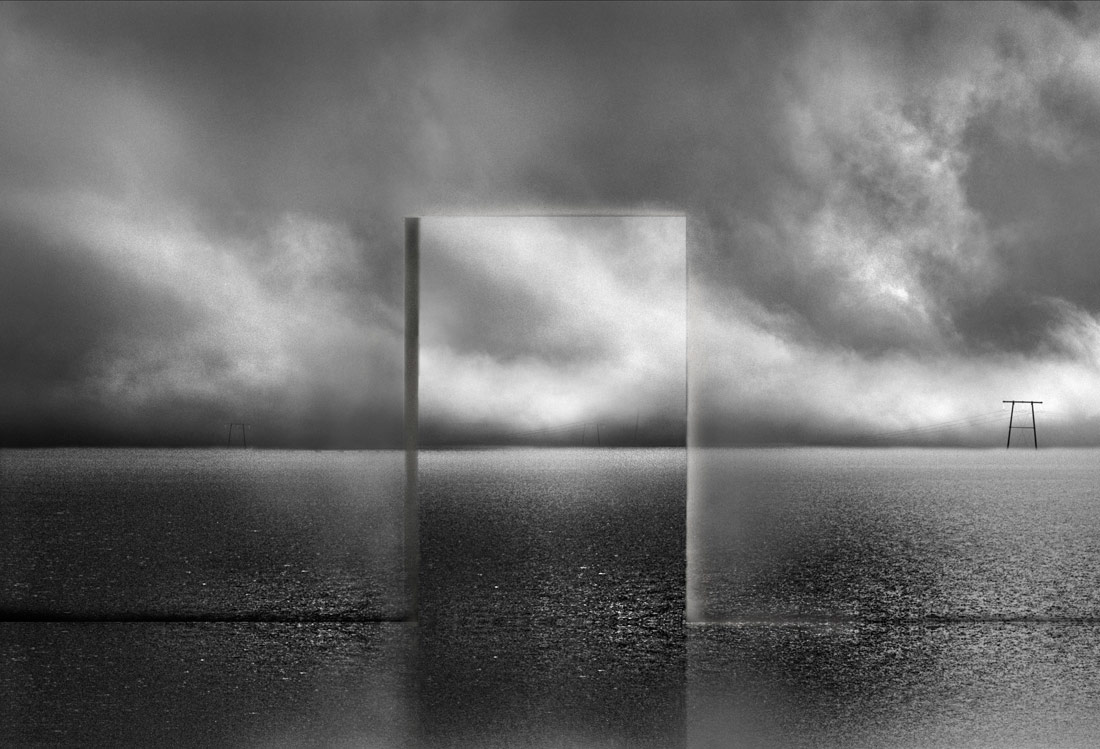 Behind The Panorama, © Michel Kirch, 1st Place - Black & White Conceptual Photo of the Year 2018, MonoVisions Photography Awards