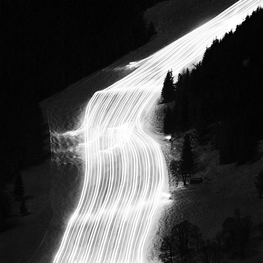 Snow Groomer - Pistenkatze, © Oliver Kussinger, Germany, 1st Place - Black & White Abstract Photo Of The Year 2017, MonoVisions Photography Awards