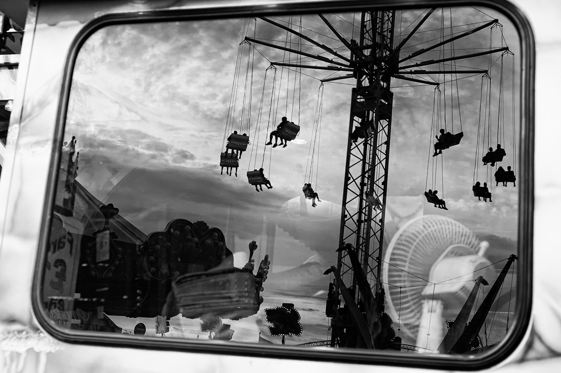 Fan of the Funfair, © Robert Syvret, Jersey, 1st Place - Black & White Conceptual Photo Of The Year 2017, MonoVisions Photography Awards