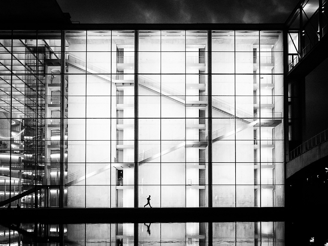 Stairjogging, © Hans-Jörg Aleff, Germany, 1st Place - Black & White Street Photo Of The Year 2017, MonoVisions Photography Awards