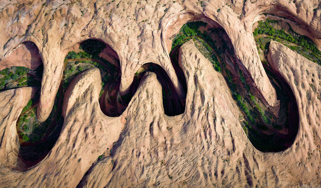 Meandering Canyon, © David Swindler, People's Choice, Aerials, National Geographic Nature Photographer of the Year Contest