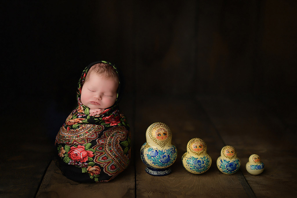 Matryoshka, © Anastasia Folman, Germany, Newborns Photo Contest