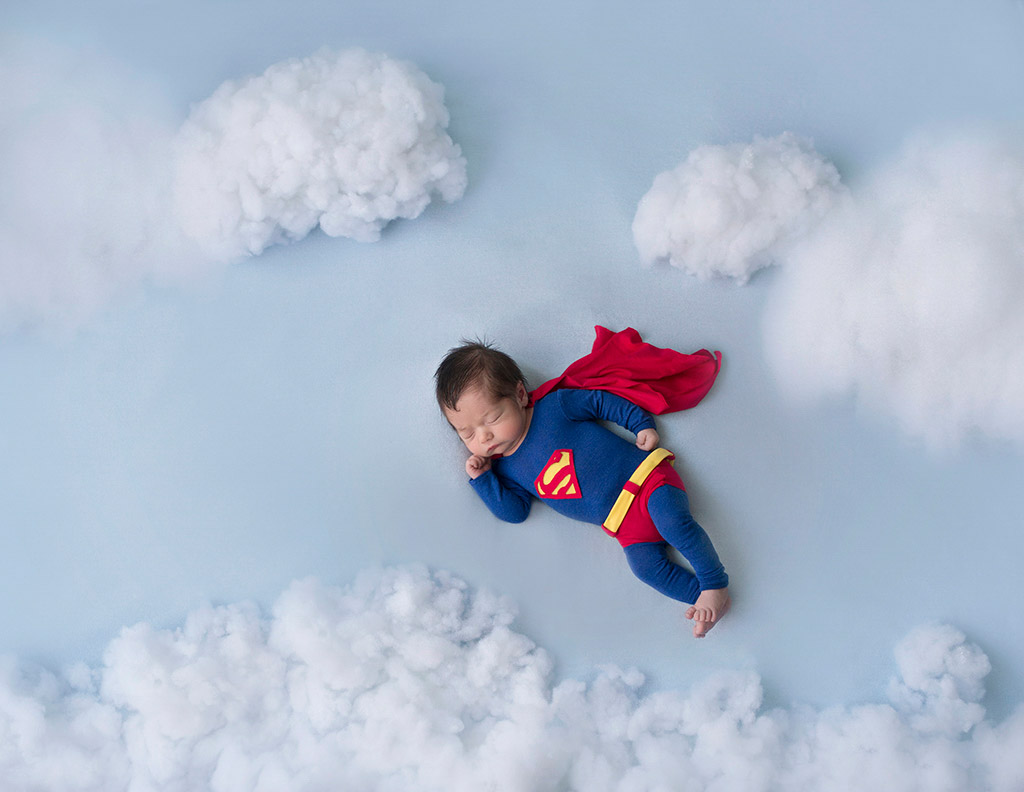 Little Superman, © Verónica Teban, Spain, Newborns Photo Contest