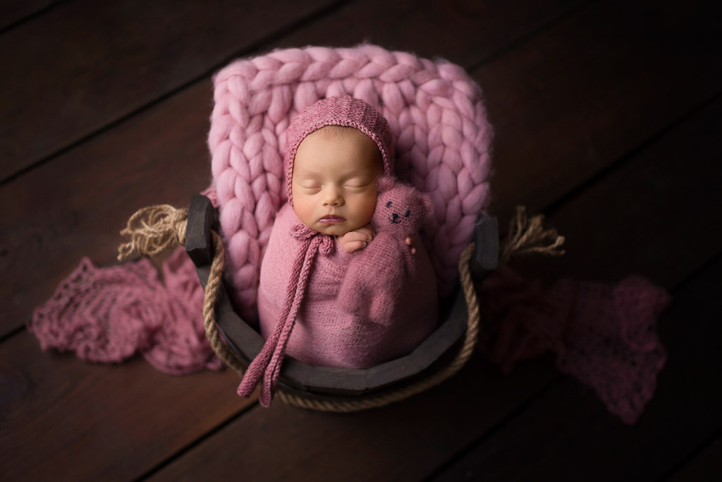 My friend, a bear, © Dorota Skawinska-Poland, Newborns Photo Contest