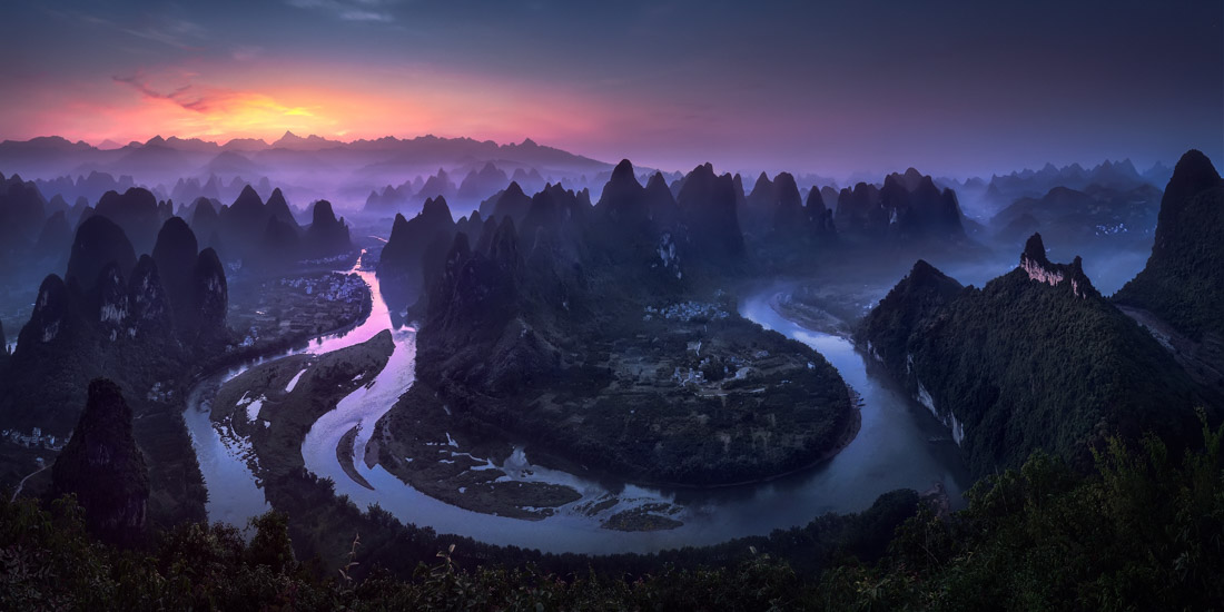 Good Morning Damian Shan, China, © Jesus M. Garcia, Spain, Open Award Winner – Nature / Landscape, Open Photographer of the Year, EPSON International Pano Awards