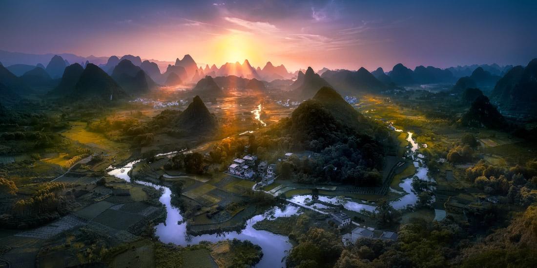 Whuzi Hill, China, © Jesus M. Garcia, Spain, Open Photographer of the Year, EPSON International Pano Awards