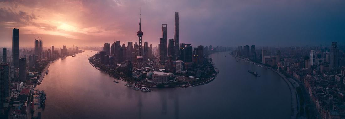 Flying Shanghai, © Javier De La Torre, Spain, Open Award Winner – Built Environment / Architecture, EPSON International Pano Awards