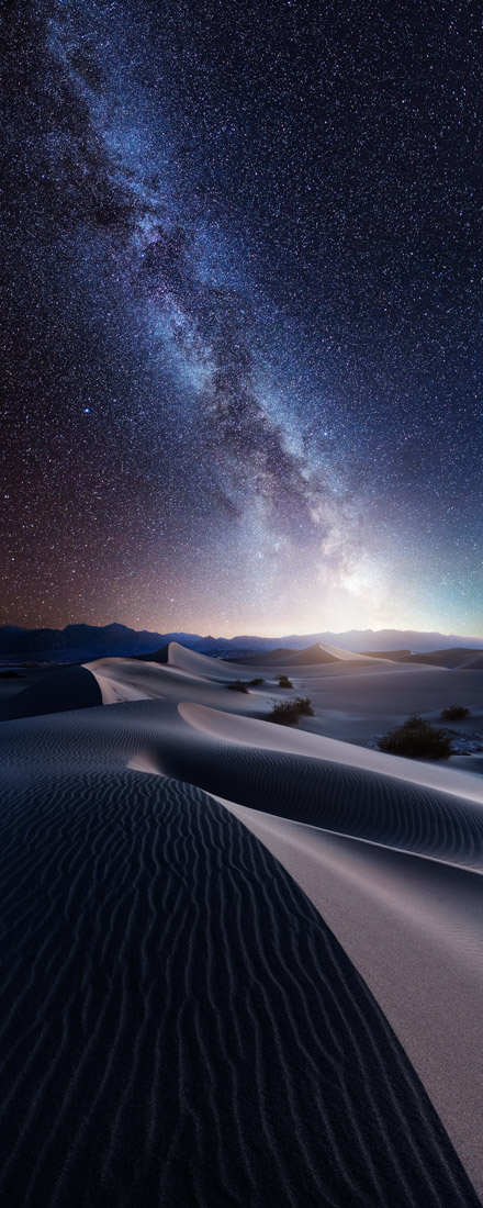 Sand and Stars, Death Valley National Park, US, © Mads Peter Iversen, Denmark, 2017 EPSON Digital Art Prize 1st Place, EPSON International Pano Awards