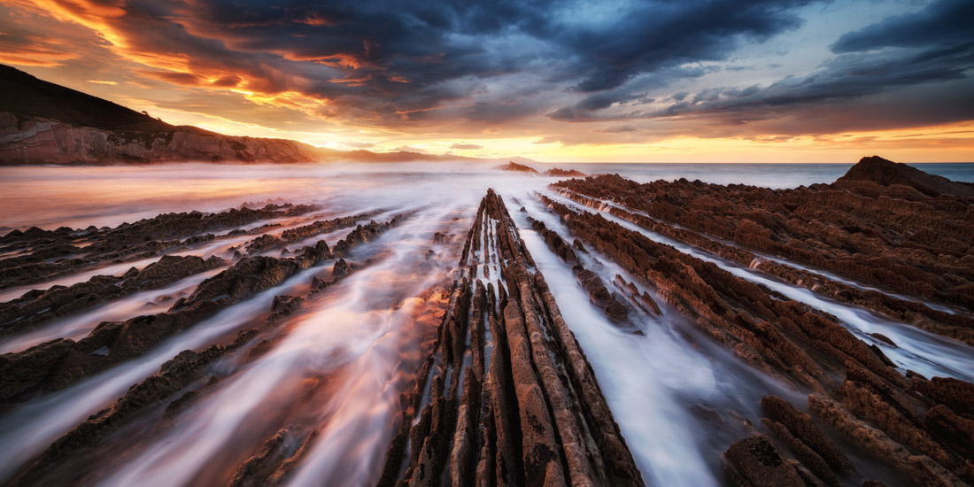 Flysch, Zumaia, Spain, © Juan Pablo De Miguel Moreno, Spain, 2017 EPSON Digital Art Prize 2nd Place, EPSON International Pano Awards