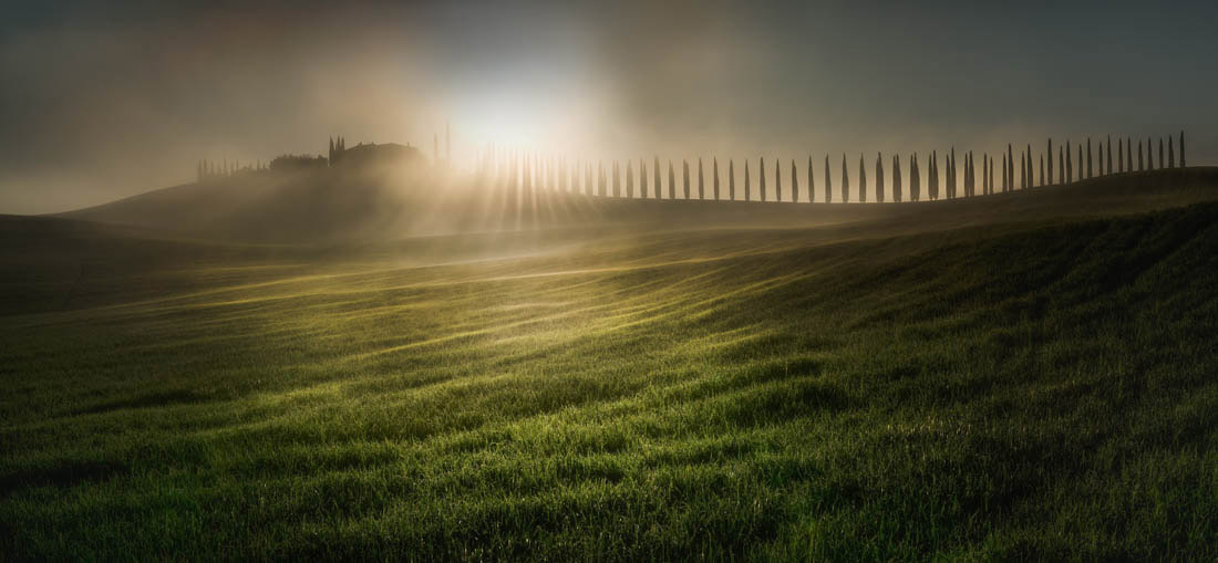 Combing The Sunlight, Tuscany, Italy, © Veselin Atanasov, Open Photographer of the Year, EPSON International Pano Awards