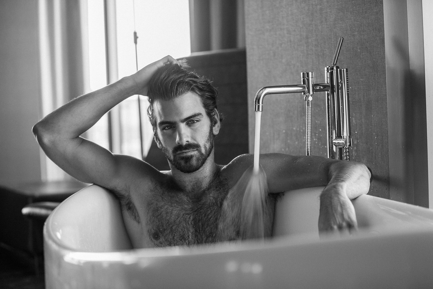 """Tub Time with Tate : Nyle Dimarco"", © Tate Tullier, Gonzales, LA, United States, People's Choice : Winner, PDN Curator Awards"