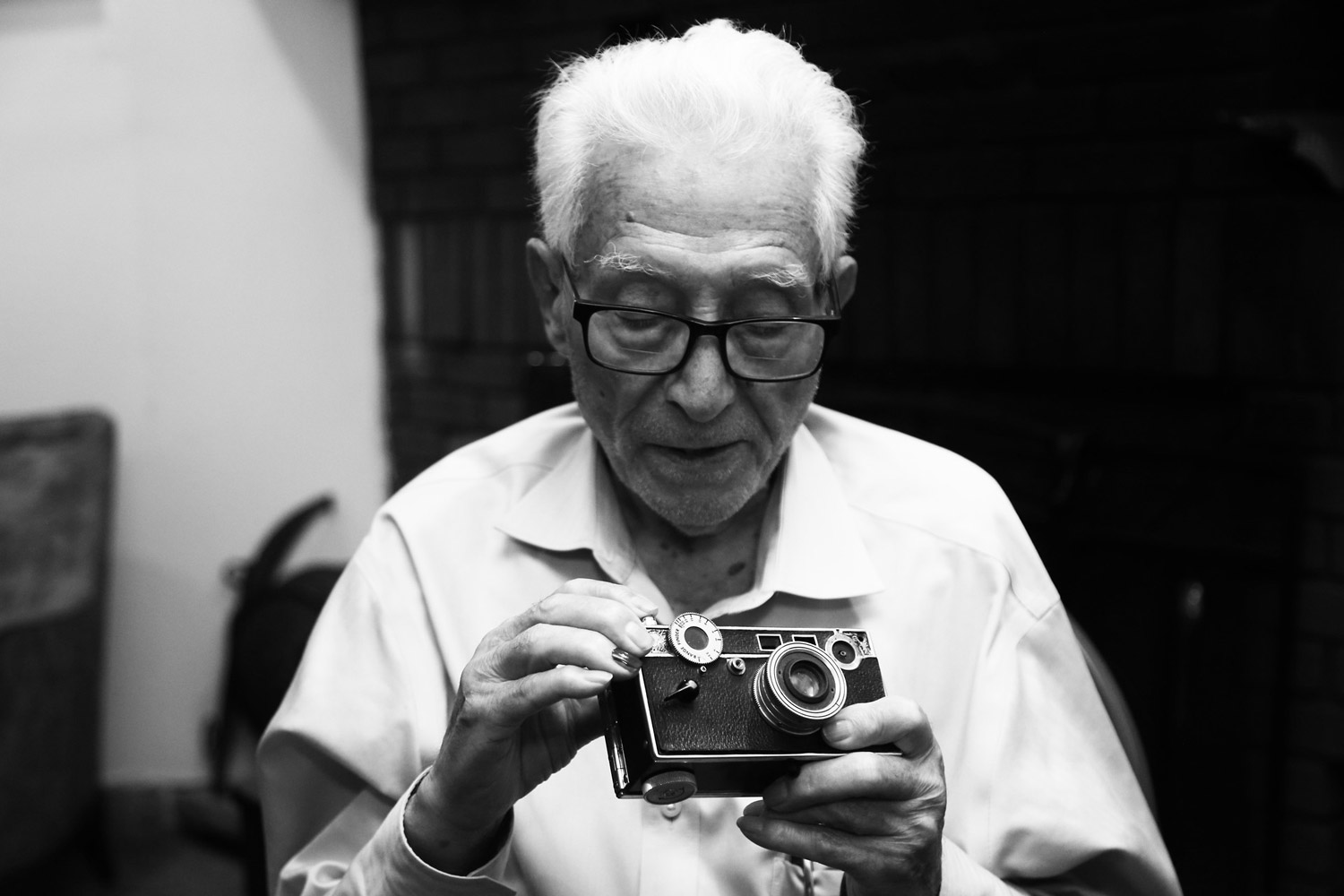 Tony Vaccaro, © Ming Fai Chan, Brooklyn, NY, United States, Amateur : Celebrities, PDN Faces - Portrait Photography Contest