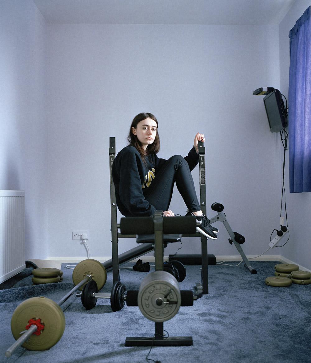 Jess In The Gym, © Jessica Hardy, Basildon, United Kingdom, Amateur : Self-Portraits, PDN Faces - Portrait Photography Contest