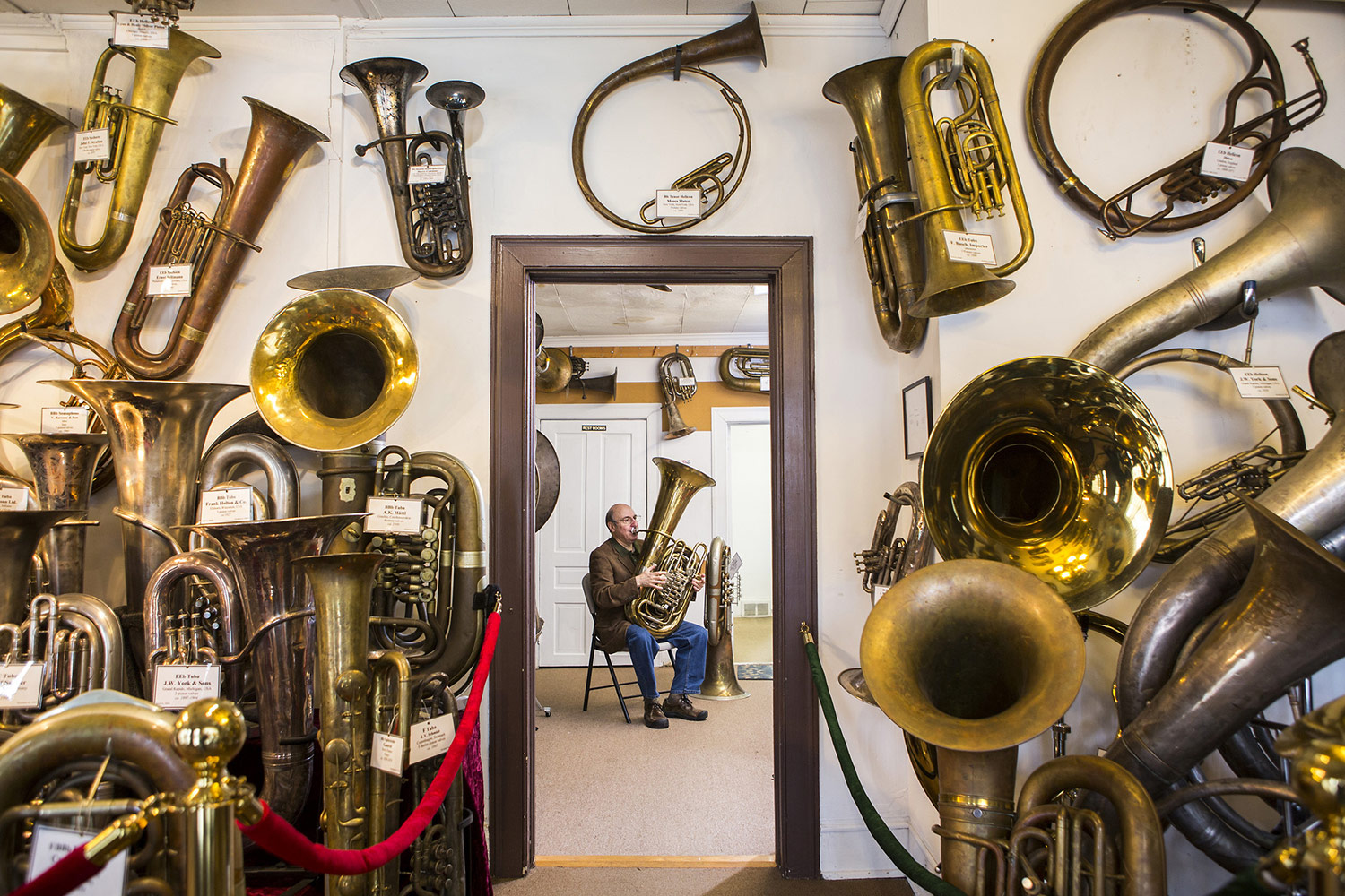 Tuba Museum Founder, © Alex Boerner, Durham, NC, United States, Professional : Commercial/Editorial/Assignment, PDN Faces - Portrait Photography Contest