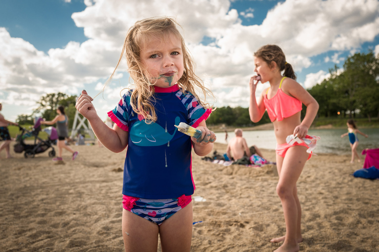Ice Cream At The Beach, © Todd Winters, Chicago, IL, United States, Professional : Babies/Children, PDN Faces - Portrait Photography Contest