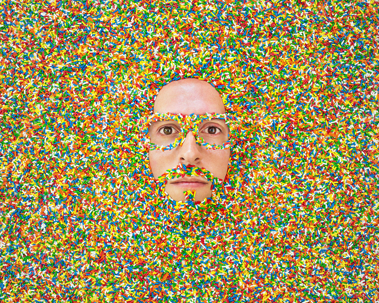 The Sprinkle Show, © Jason Travis, Venice, CA, United States, First Place Professional : Self-Portraits, PDN Faces - Portrait Photography Contest