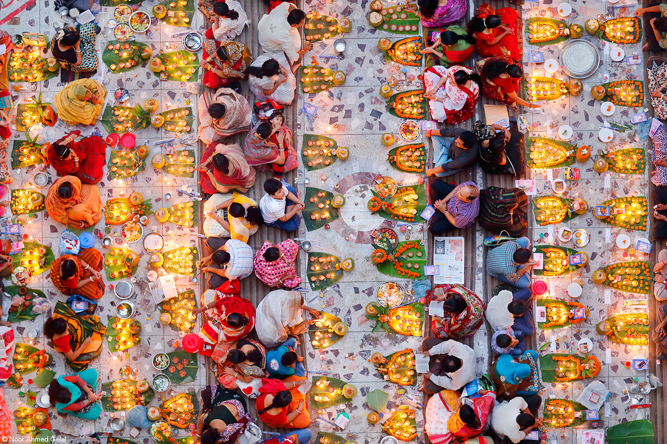 Praying with Food, © Noor Ahmed Gelal, Bangladesh, 1st Place, Food for Celebration, Pink Lady Food Photographer of the Year