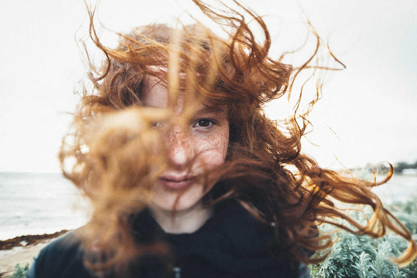 """Freckles + Wind"", © Anna Taylor, Melbourne, VIC, Australia, First Place Professional : Portraits, Rangefinder Lifestyle 2017 Winner"