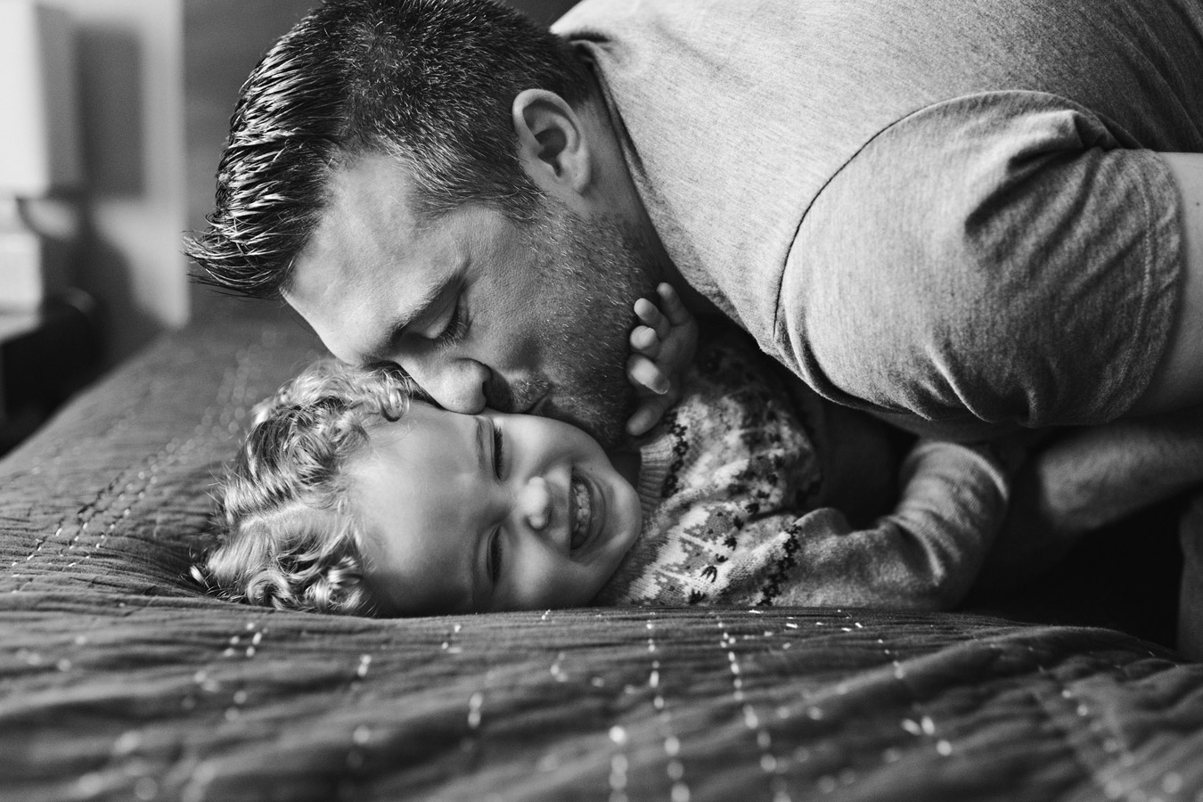 Daddy Attack, © Hilary Camilleri, Waterloo, Canada, First Place Family, Rangefinder the Portrait Photo Contest