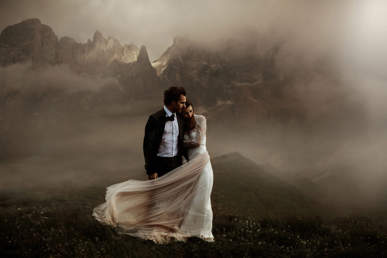Stormy love in the Dolomites. The Story of Giulia and Fede, © The Ferros, Edinburgh, Edinburgh, United Kingdom, Rangefinder Wedding Contest