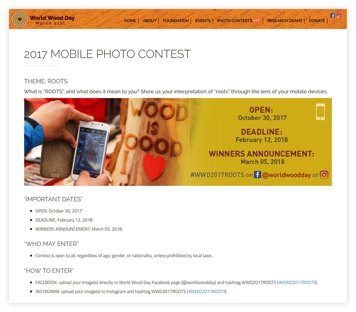 Roots Mobile Photo Contest