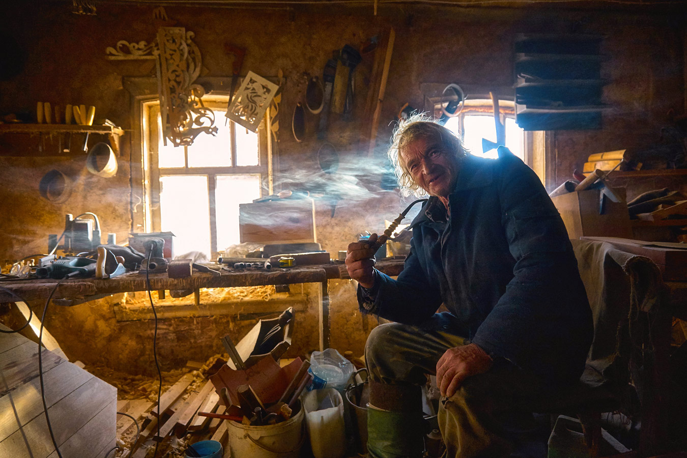"Carpenter's Workshop, Chelyabinsk region, Bulzi village, © Angela Usmanova, 1st place, ""Russian Civilization"" International Photo Contest"