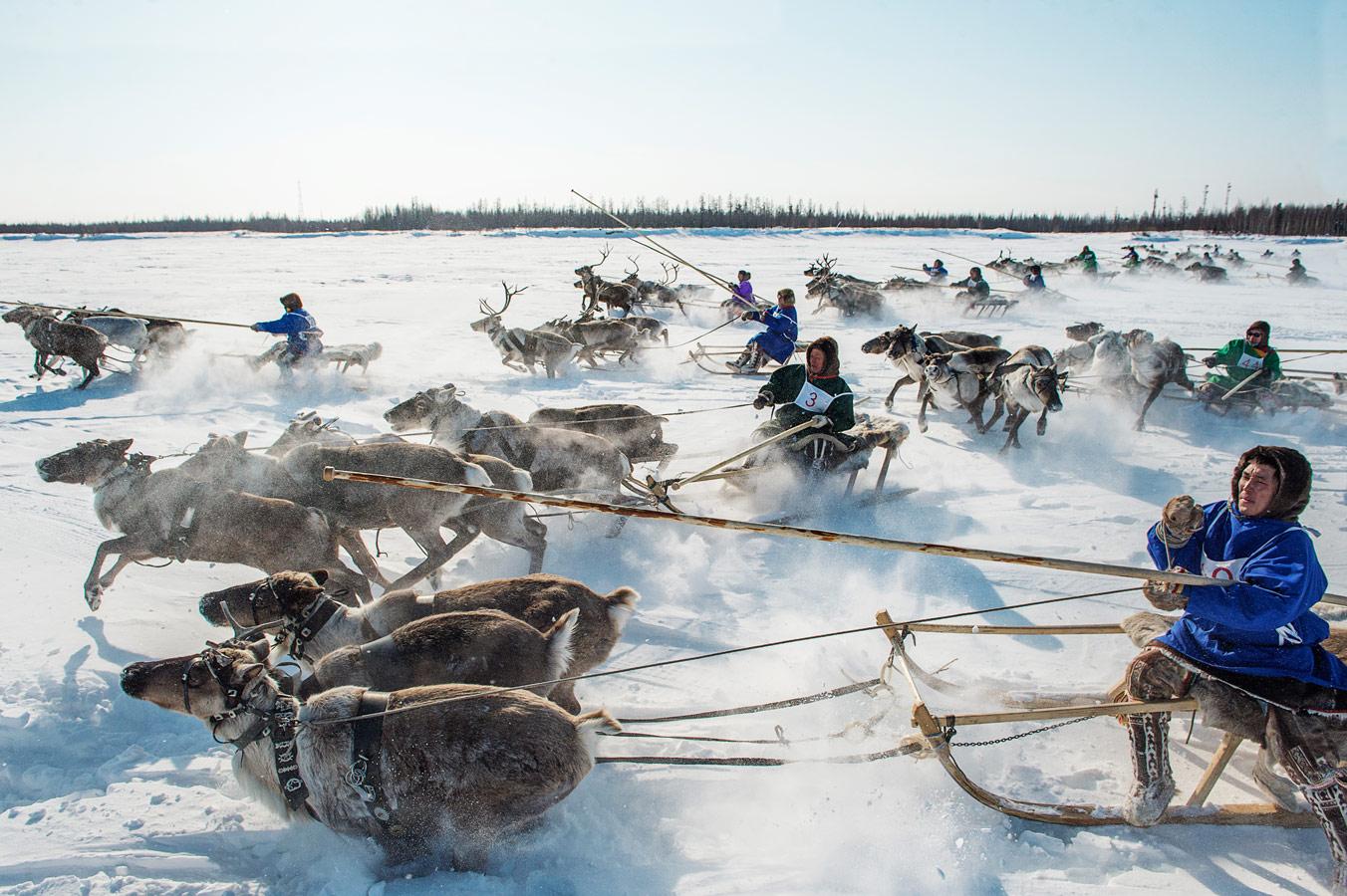 "Racing From a General Start, Tarko Sale, © Sergey Rusanov, 3rd place, ""Russian Civilization"" International Photo Contest"