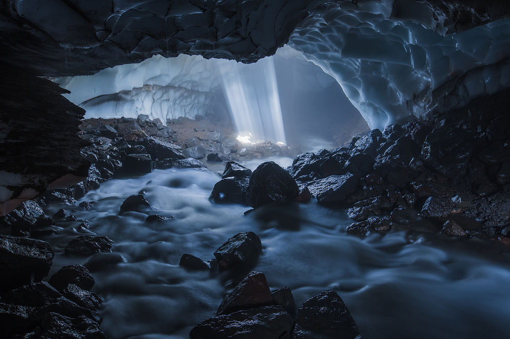 "Ice river, © Marina Malikova, Winner in category Caves, ""Most Beautiful Country"" Photo Contest"