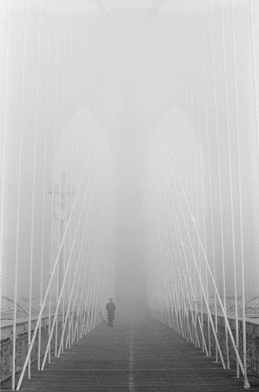 The Brooklyn Bridge Alone in the Fog, © David Douglas, Albuquerque, NM, Third Prize, Santa Fe Photographic — Celebrate