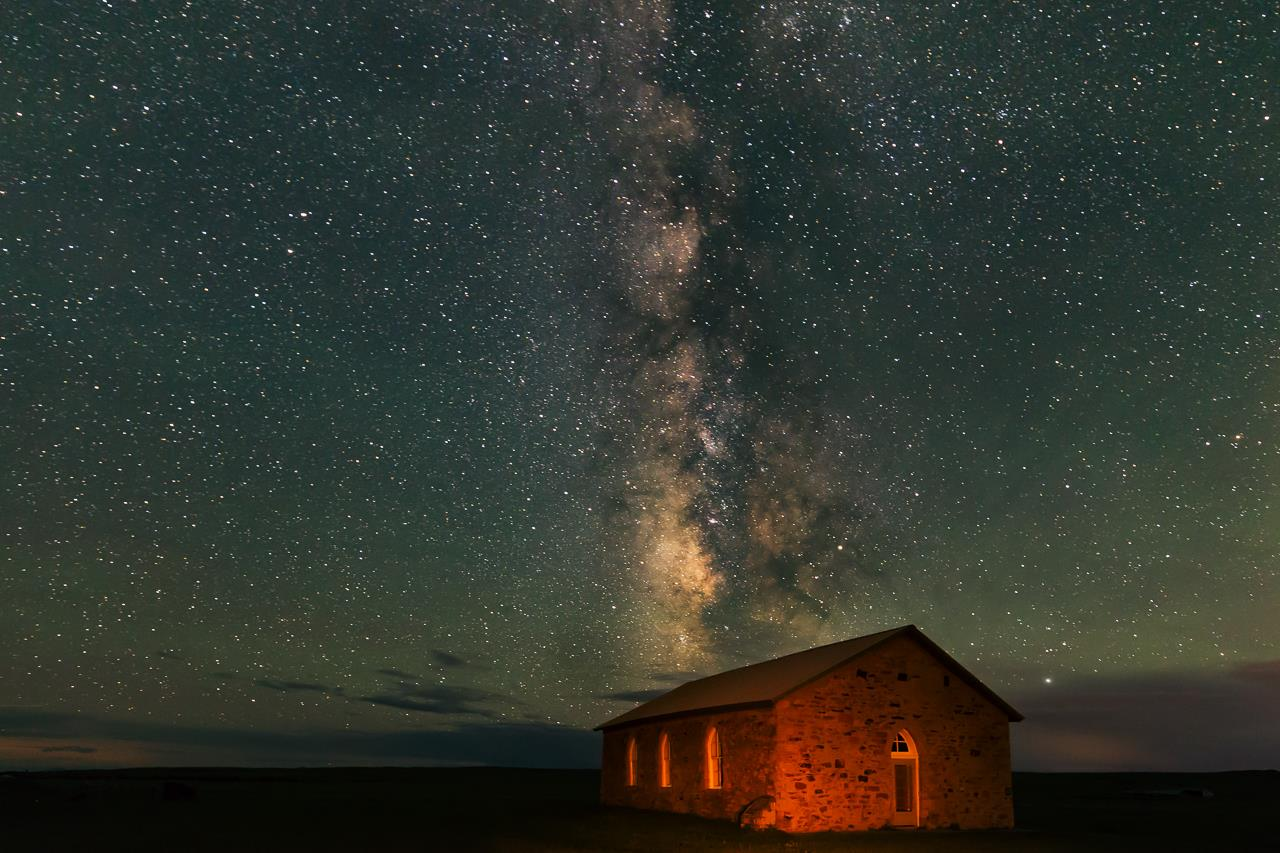 Church Milky Way, © Tolbert Bruce, Colorado Springs, Colorado, Santa Fe Photographic — Celebrate