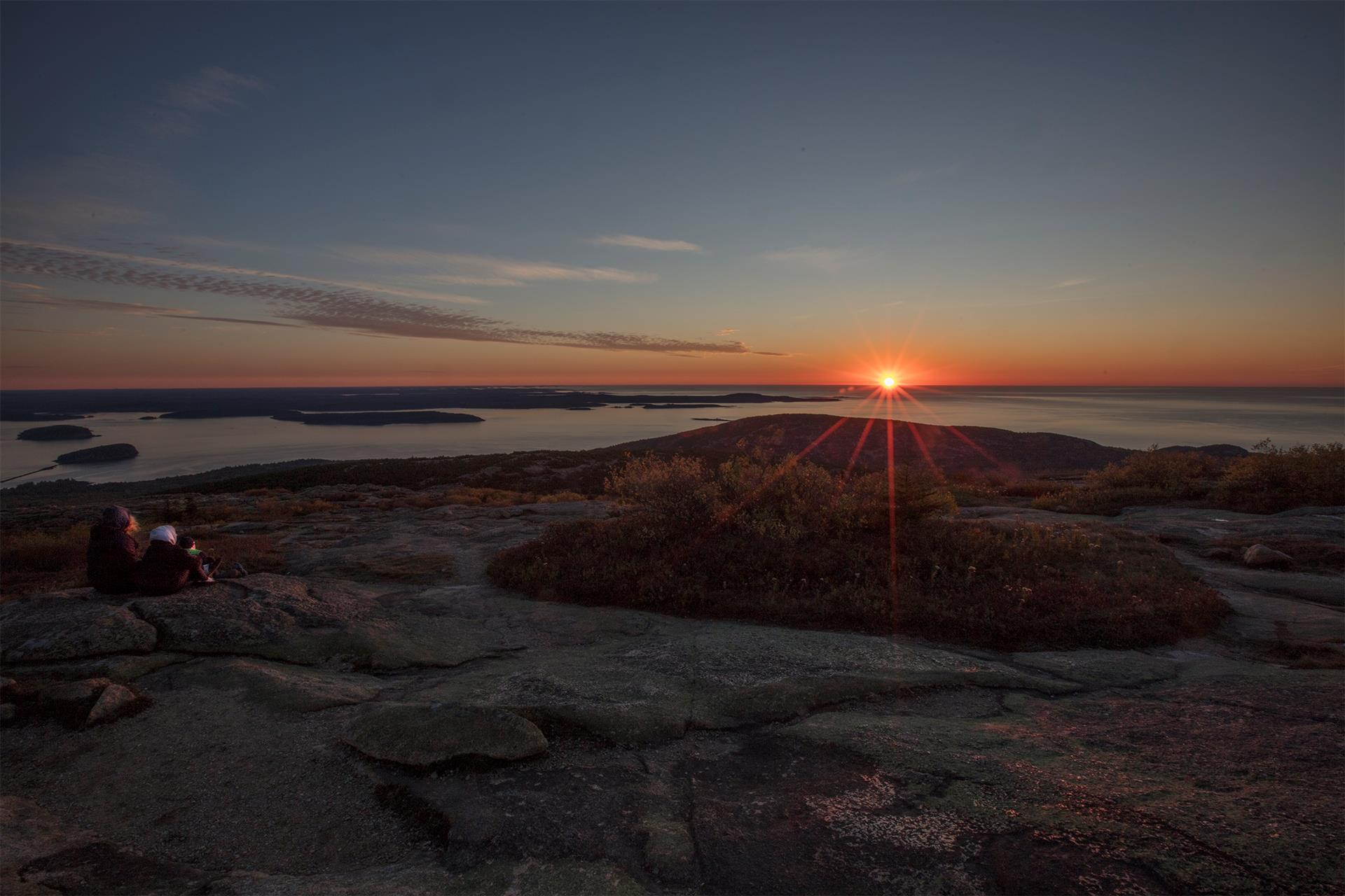 Peaceful Celebration of Sunrise, © Morry Moskovitz, Cadillac Mountain, ME, Santa Fe Photographic — Celebrate