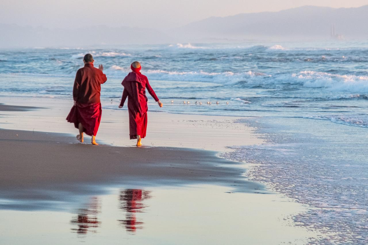 Beach Buddhists, © Thomas Jacobs, Aptos, California, Santa Fe Photographic