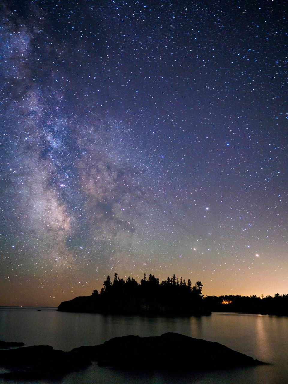 Milky Way Over Superior, © Maribeth Lundeen, Stillwater, MN, Santa Fe Photographic — Summer vacation