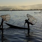 A Fishing Performance at Inle Lake, © 水庆华, First Prize Story Enthusiast Group, SkyPixel Photo Contest