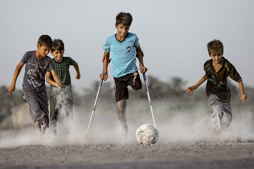 The Desire for Life, © Taisir Mahdi, Iraq, 1st place : Sports : Single, Special prize by Shanghai United Media Group (SUMG). Special prize by Al Mayadeen TV, Andrei Stenin International Press Photo Contest