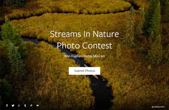 Streams In Nature Photo Contest
