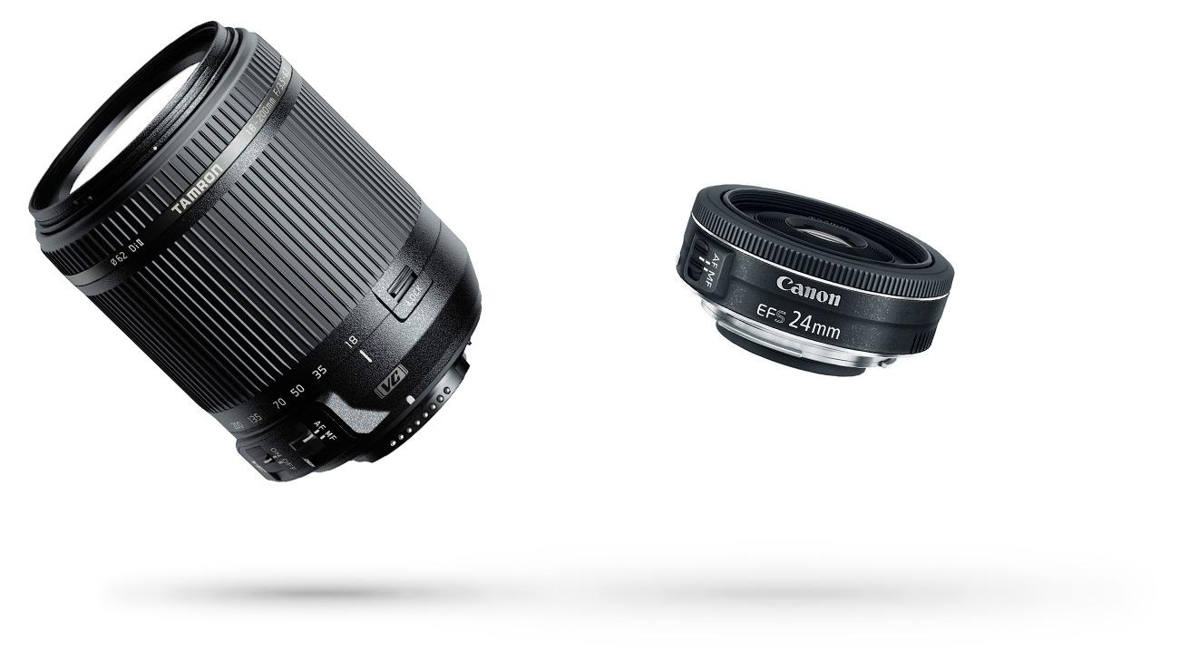 Tamron AF 18-200mm F/3.5-6.3 Lens, Canon EF-S 24mm f/2.8 STM Lens