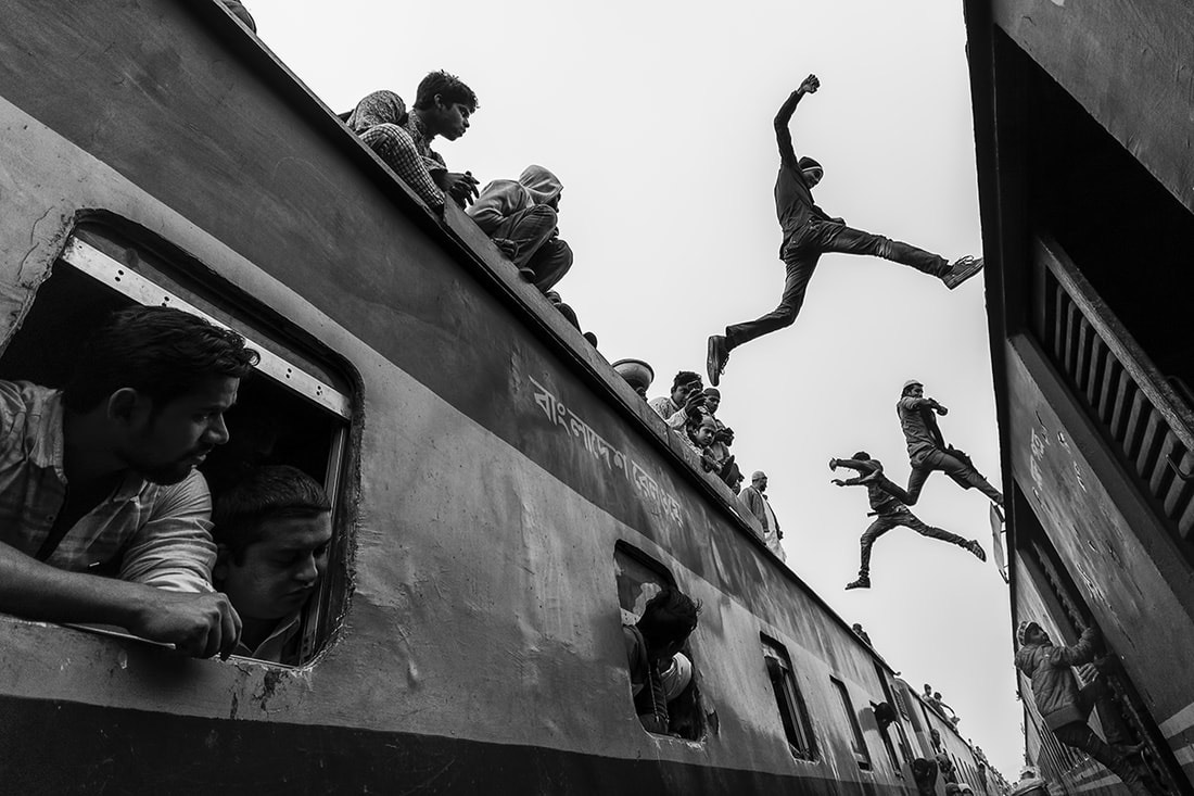 Jump, © Sanghamitra Sarkar, Second Place Winner, Black and White Photography Competition by The Motif Collective