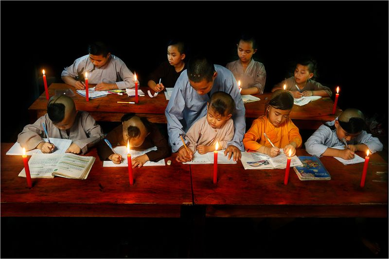 Night Class For Orphans, © Te Le, United States, 1st Place People Amateur / Student, Tokyo International Foto Awards