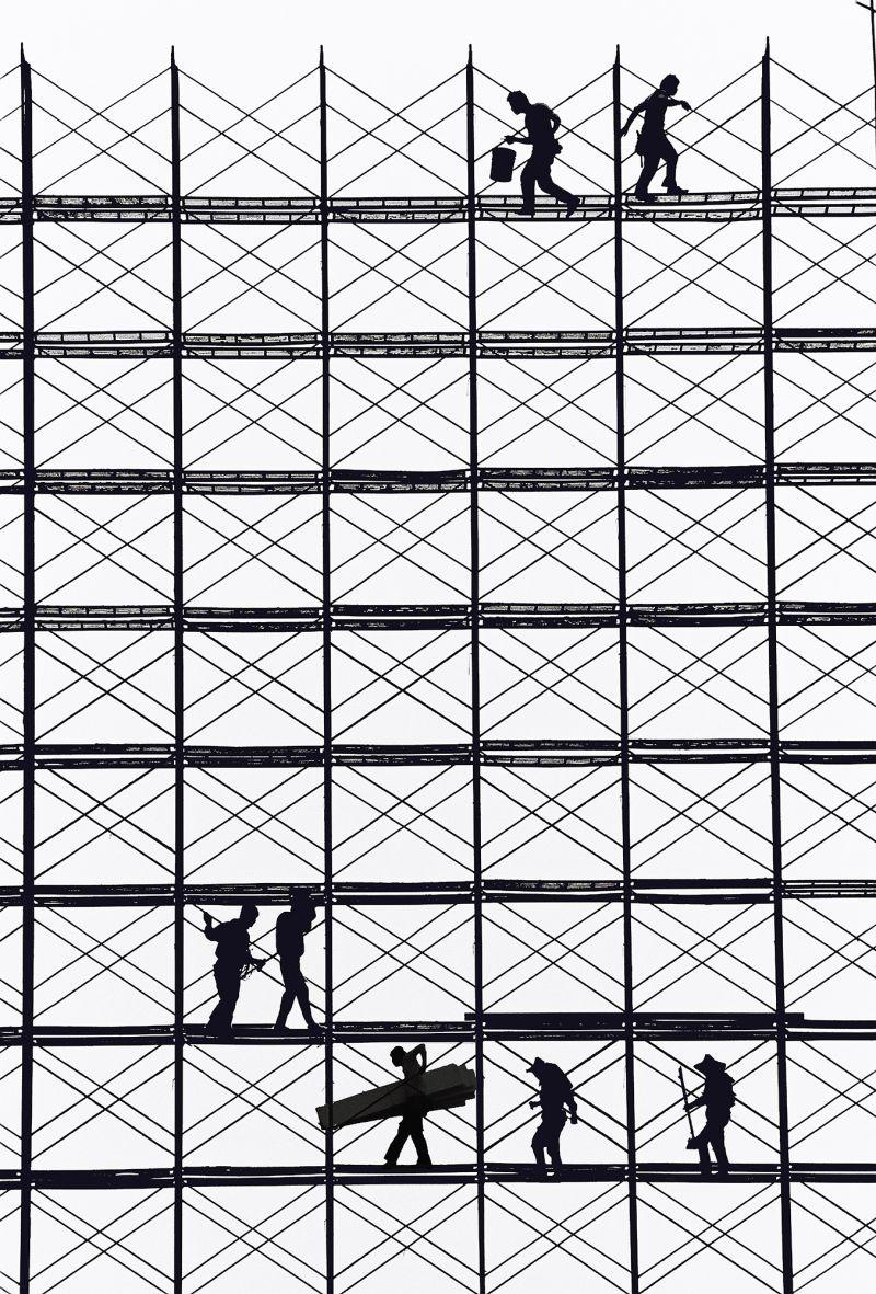 ''Rhythm on the Shelf'' of the Era, © Huang Sheng-min, Taiwan, 1st Place, Tokyo International Foto Awards