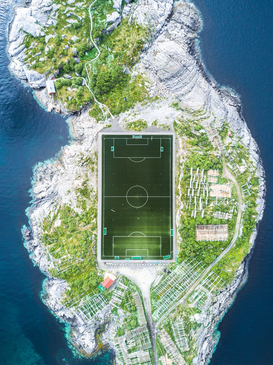 Henningsvær Football Field, © Misha De-Stroyev, Third Place Winner, Cities, National Geographic Travel Photographer of the Year
