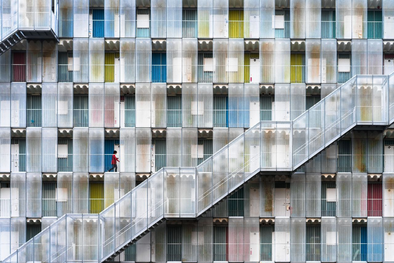 Colorful Apartment, © Tetsuya Hashimoto, Honorable Mention, Cities, National Geographic Travel Photographer of the Year