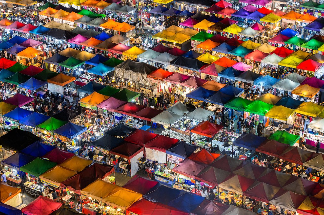 Colorful Market, © Kajan Madrasmail, People's Choice Winner, Cities, National Geographic Travel Photographer of the Year