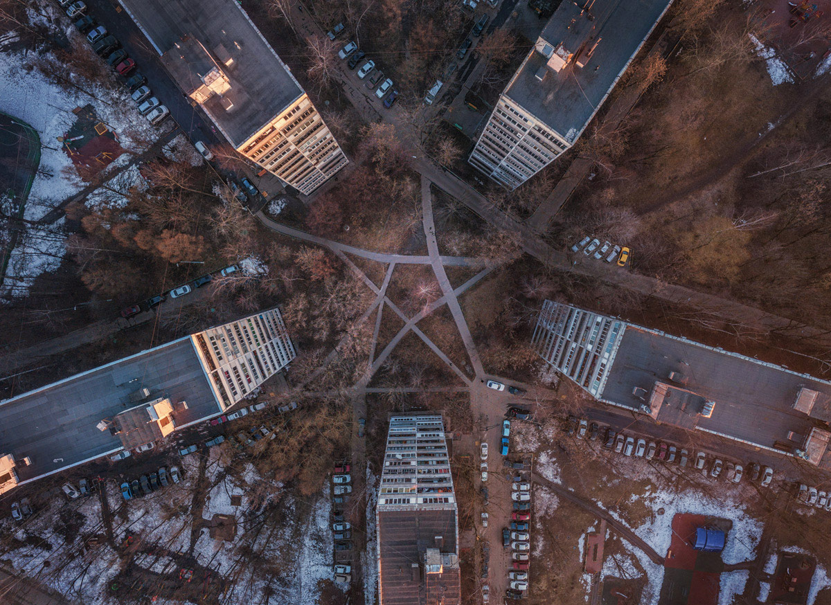 Pentacle, © Sergey Shandin, First Place Aerofoto Nomination, Marked by Masters Special Diploma, Point On The Map Photo Contest. Photo Parade in Uglich