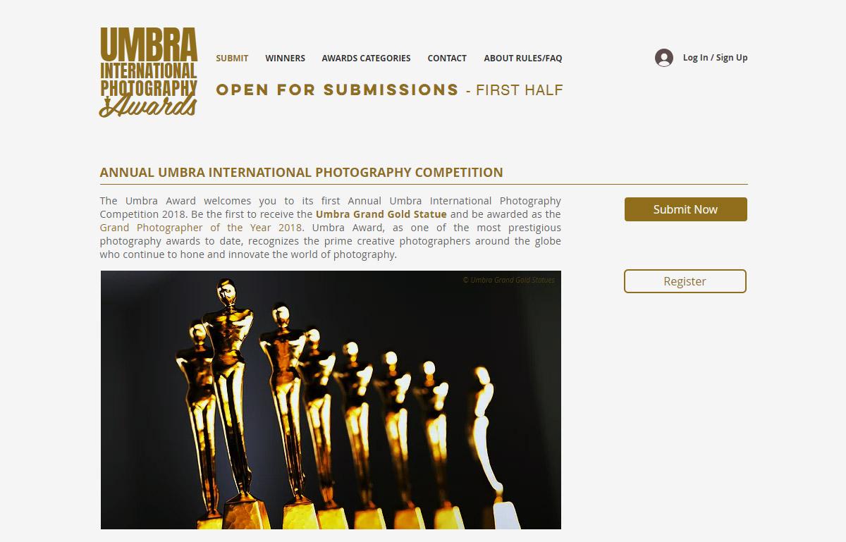 Umbra International Photography Awards