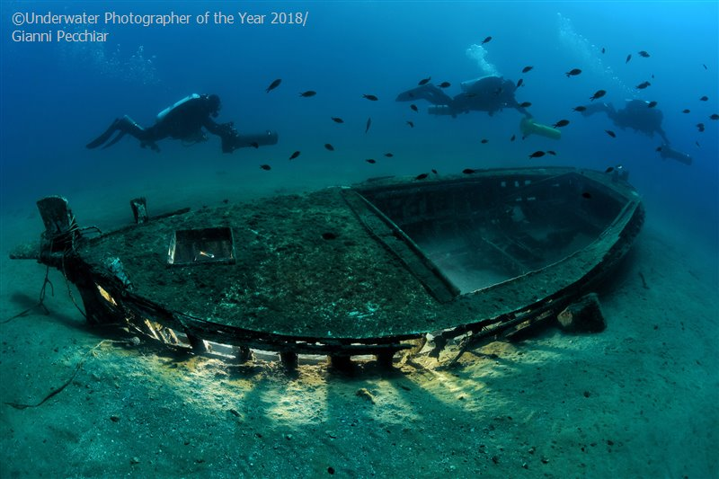 Safe Navigation, © Gianni Pecchiar (Italy), Wrecks Runner Up, Underwater Photographer of the Year