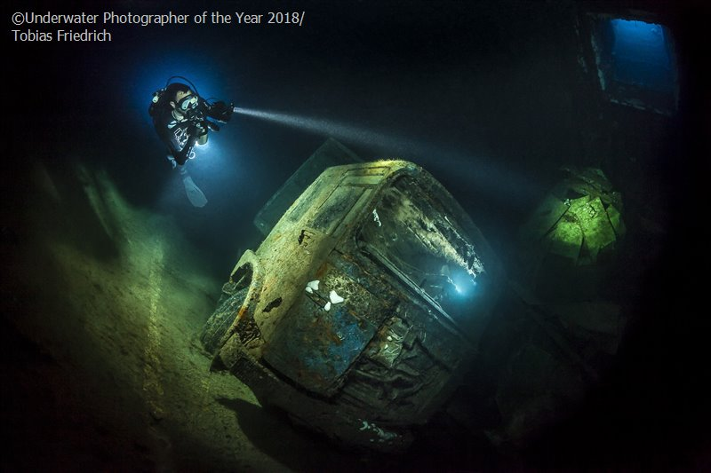 TRUCK-NOBIA, © Tobias Friedrich (Germany), Wrecks Third, Underwater Photographer of the Year