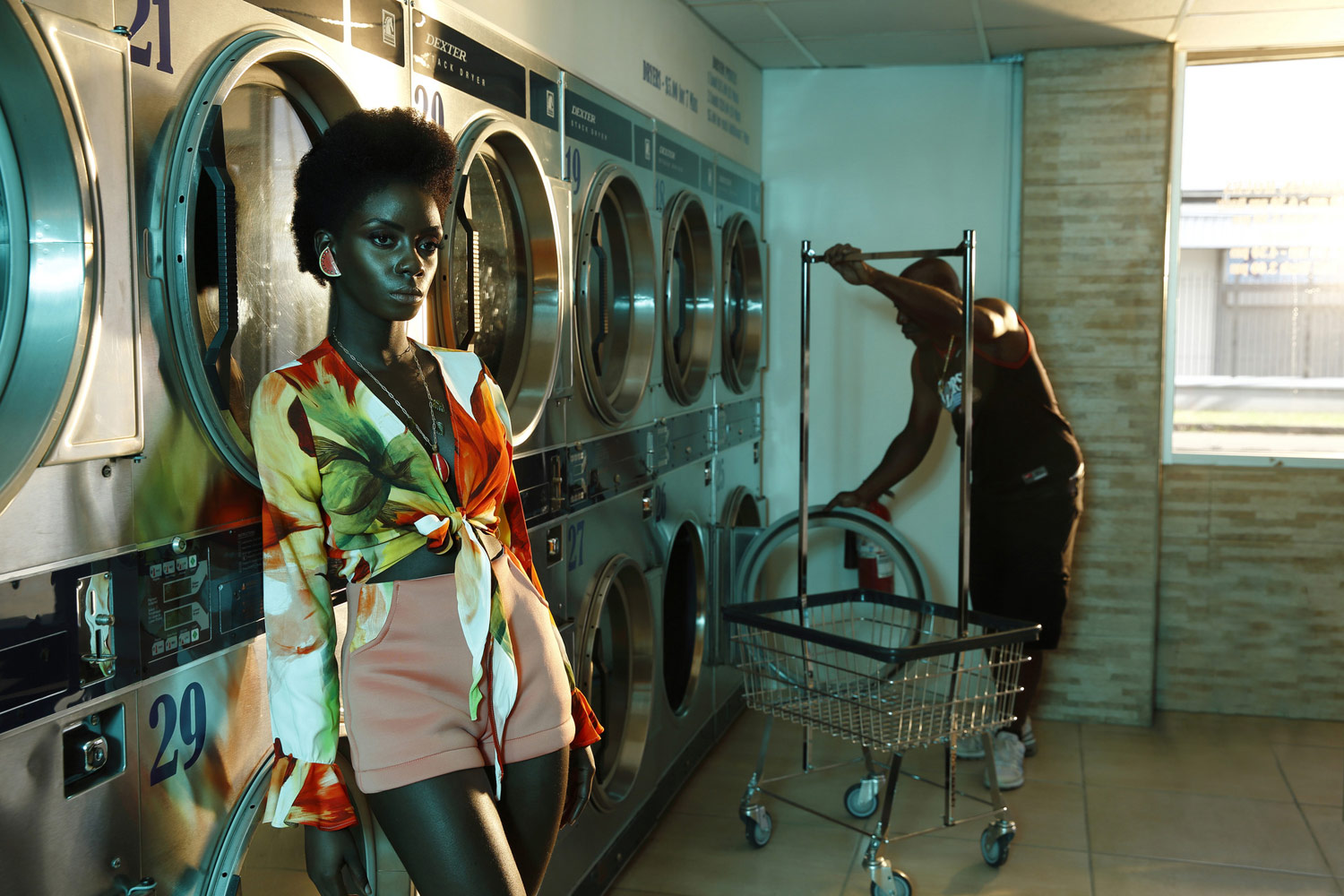 """Laundromat #2"", © Antony Scully, Diego Martin, Diego Martin, Trinidad And Tobago, First Place Submission : Two Lights, Rangefinder Lighting Photography Contest"